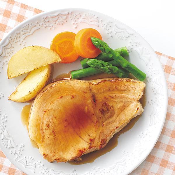 ゆで豚肉のポークソテー