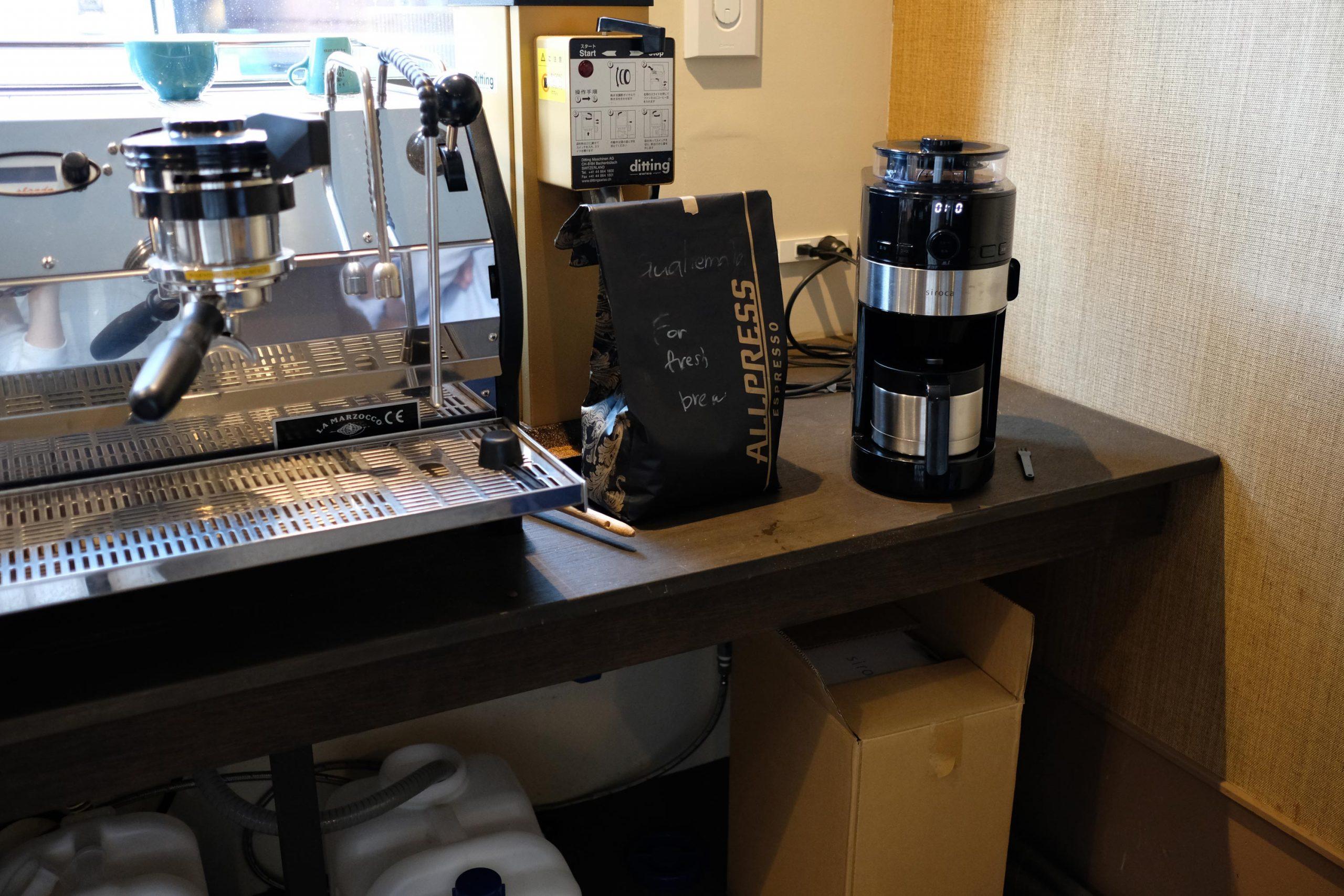 お店で飲むコーヒーのおいしさを楽しめるコーヒーメーカー。