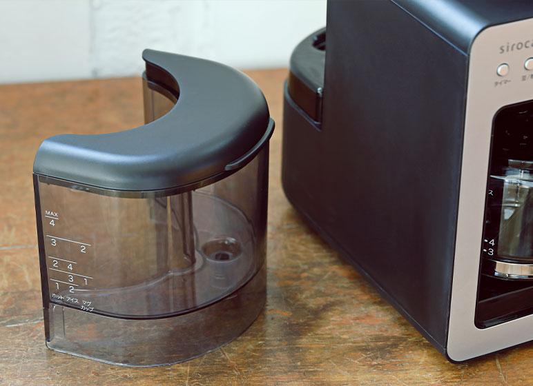 給水タンクは取り外し可能 水を注ぐのも、丸洗いもラクラク