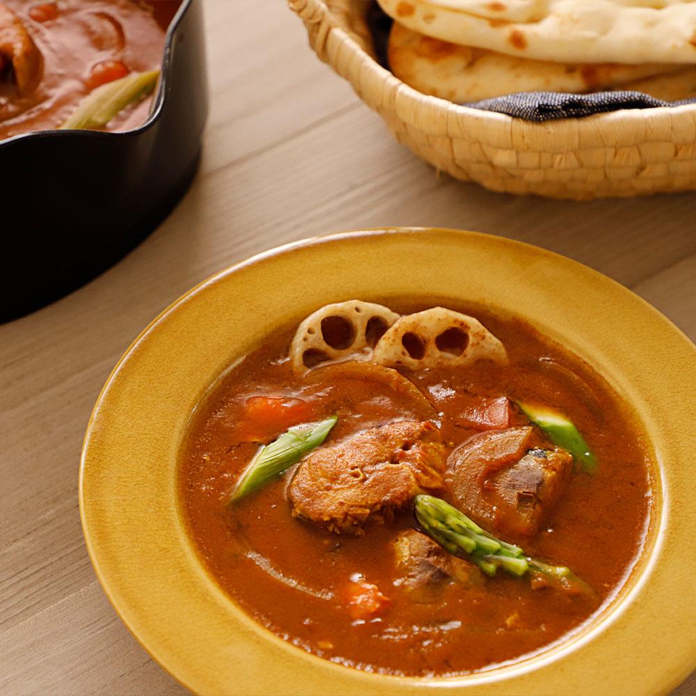 鯖のカレー風味スープ