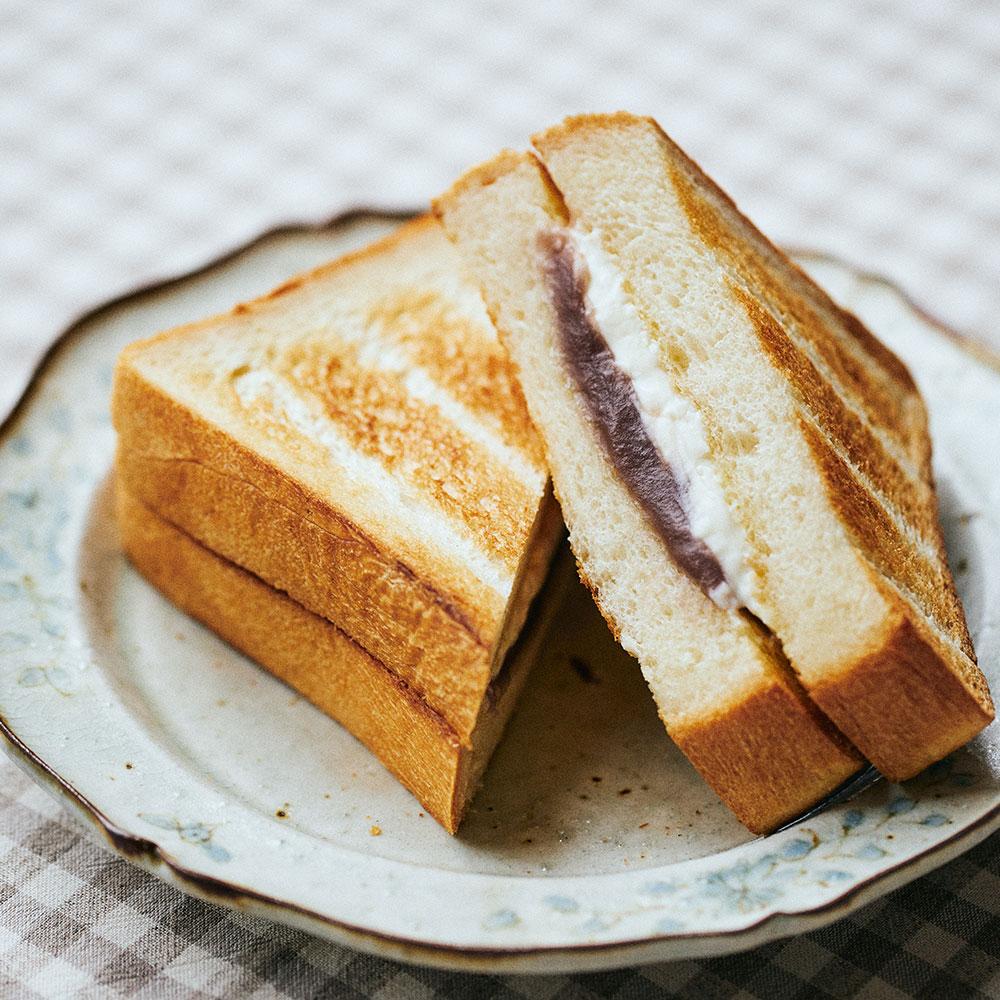 あんことクリームチーズのサンド