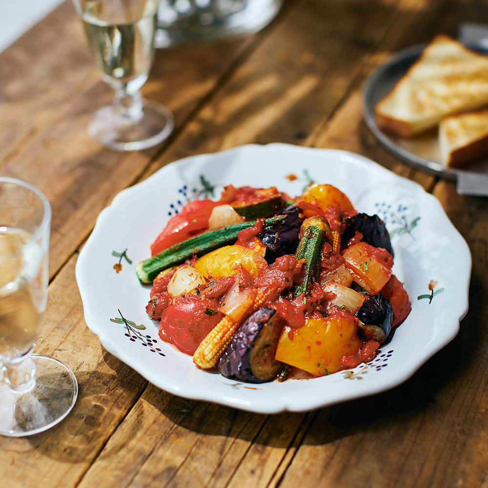 スパイス香る夏野菜の焼きラタトゥイユ